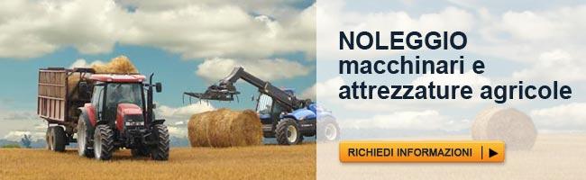 Noleggio macchinari e attrezzature agricole